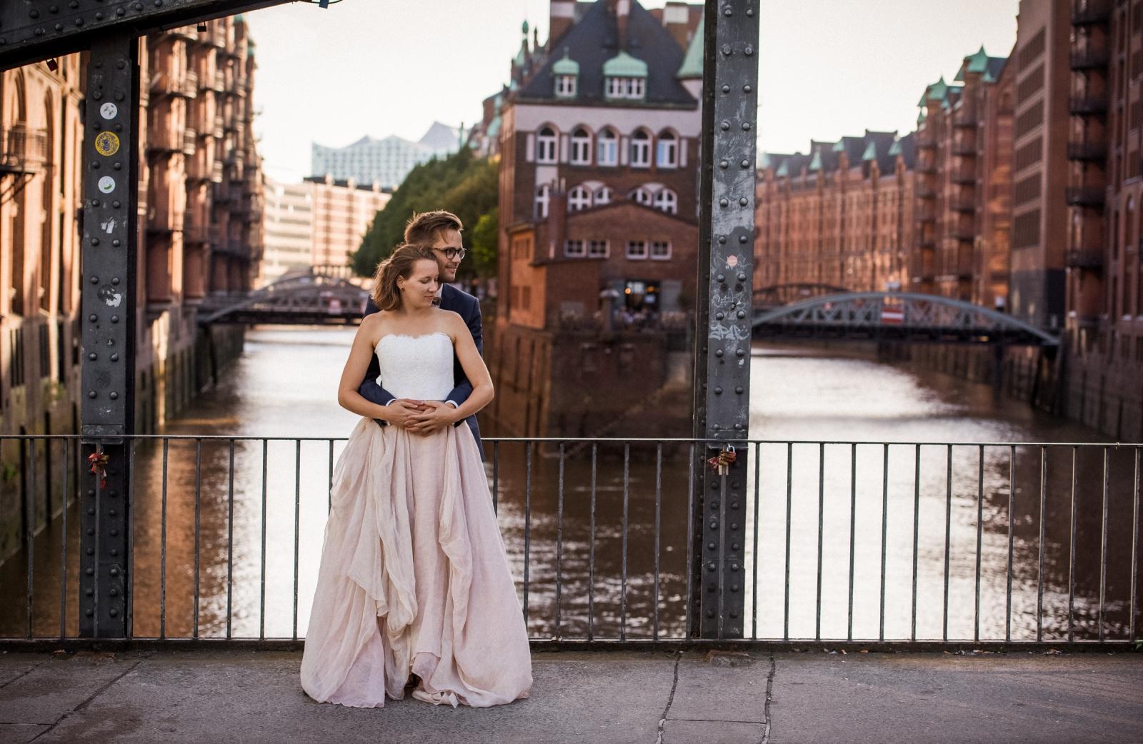 After Wedding Shooting in Hamburg am Wasserschloß