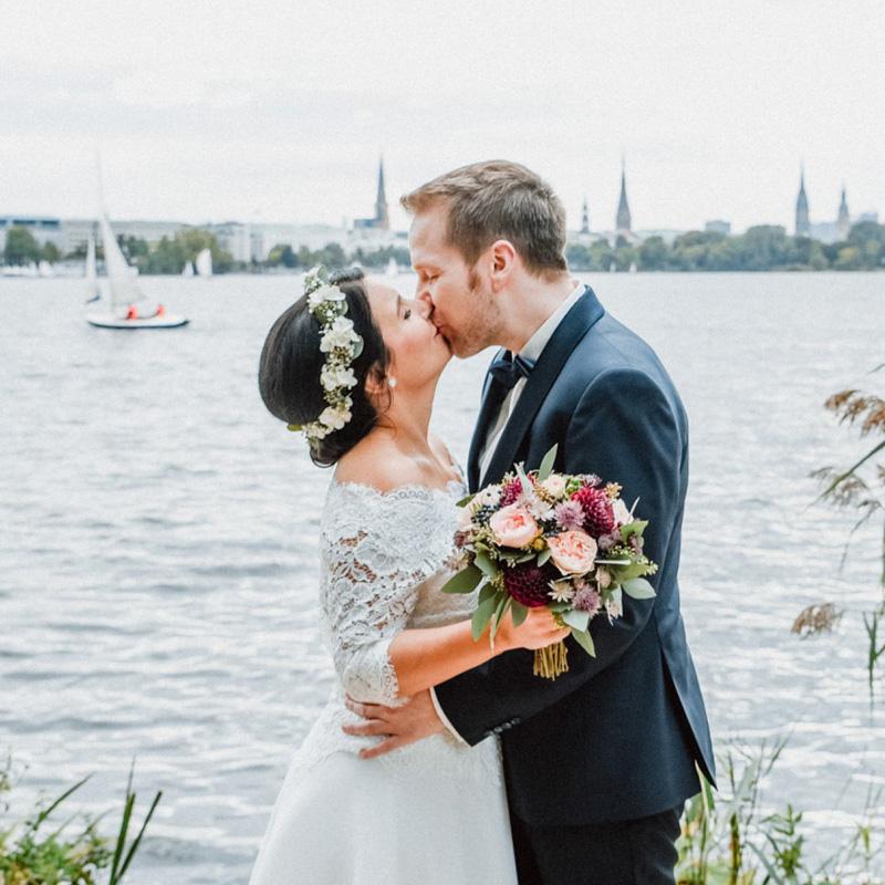 Hochzeitsshooting an der Hamburger Alster